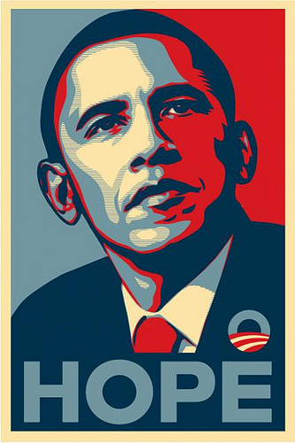 Poster de campaña de Barack H. Obama