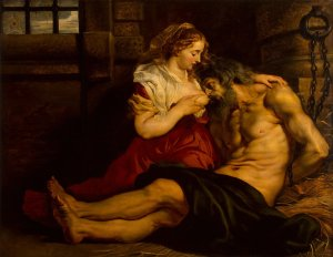La caridad romana. Rubens
